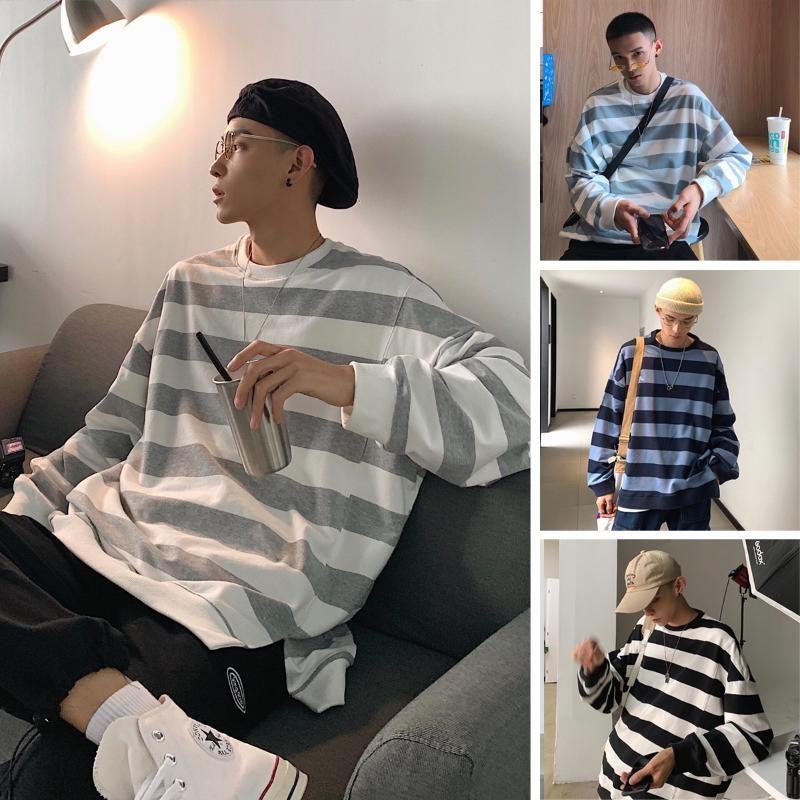 Sweats à capuche pour hommes Sweatshirts Hommes Femme 2021 O-Cou O-Cou Lâche Hommes Sweats Barem Coréen Sweatshirt coloré Vêtements Automne