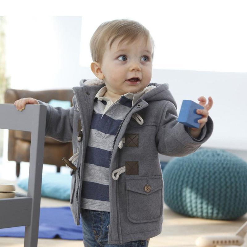 Vêtements d'hiver 2 Couleur vêtement en coton épais manteau pour enfants Vêtements Vêtements pour enfants Habineige avec capuche