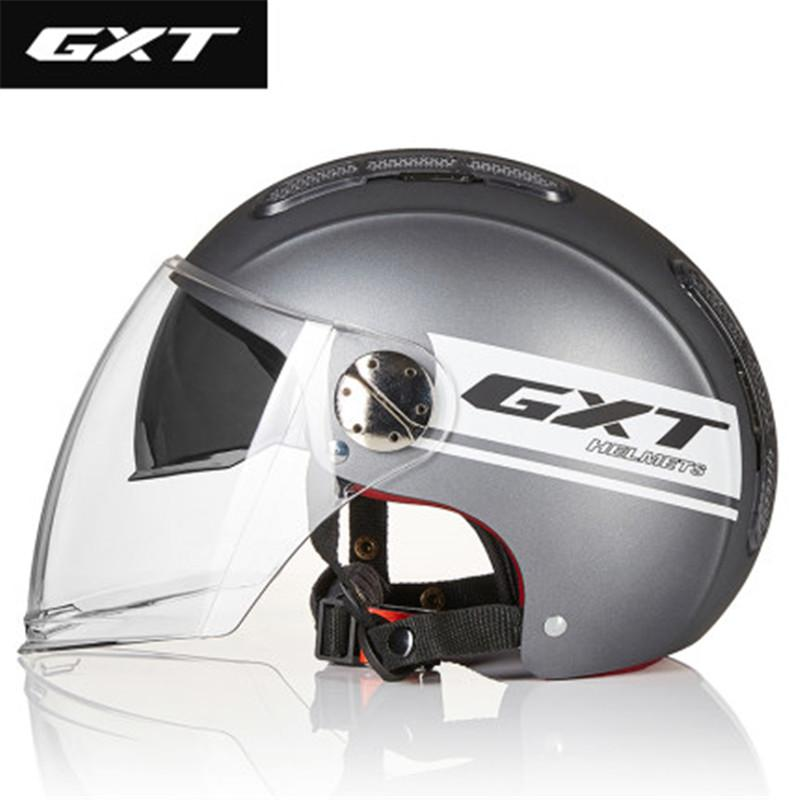 GXT мотоциклетный шлем Summer Open Face Dual Lens Moto Шлем Электрический велосипед лето Скутер мотоцикл каско Мото