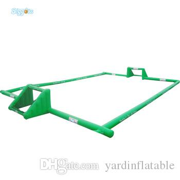 PVC Material Sports Game Inflatable Water Soccer Field Inflatable Football Field With Free Blower For Sale