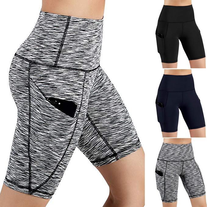 اليوغا السراويل النسائية الصيف للياقة البدنية الجيب الرياضة طماق السراويل رياضة الجري ضيق سليم التدريب جاف سريعة مطاطا تجريب قصيرة