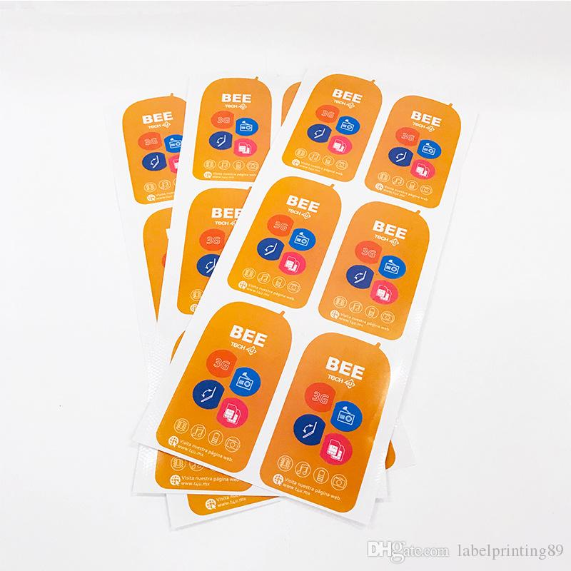 """Self Adhesive Waterproof Vinyl Stickers Set of 30   Orange     3/""""  Numbers"""
