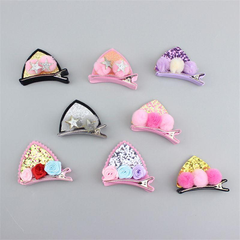 New 2pcs/set cat rabbit ears children hair clips Accessories Cute Safety kids Little Girls Hairpins Barrettes Hairgrips headwear