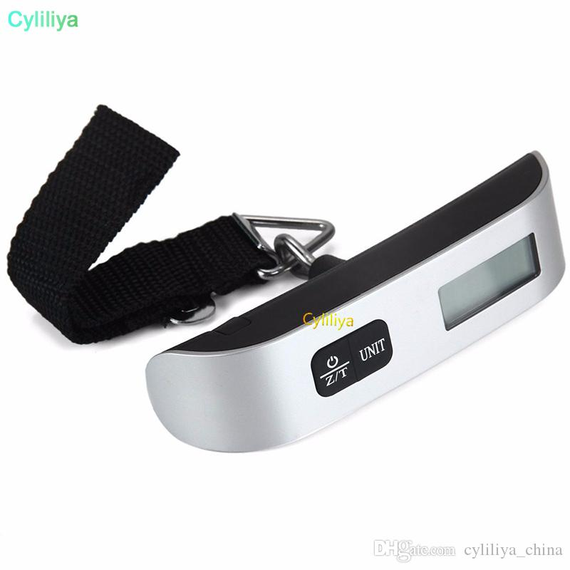 50kg Capacity Weighing Device Hand Held LCD Electronic Scale Mini Digital Luggage Scale Electronic Hanging Scale Thermometer