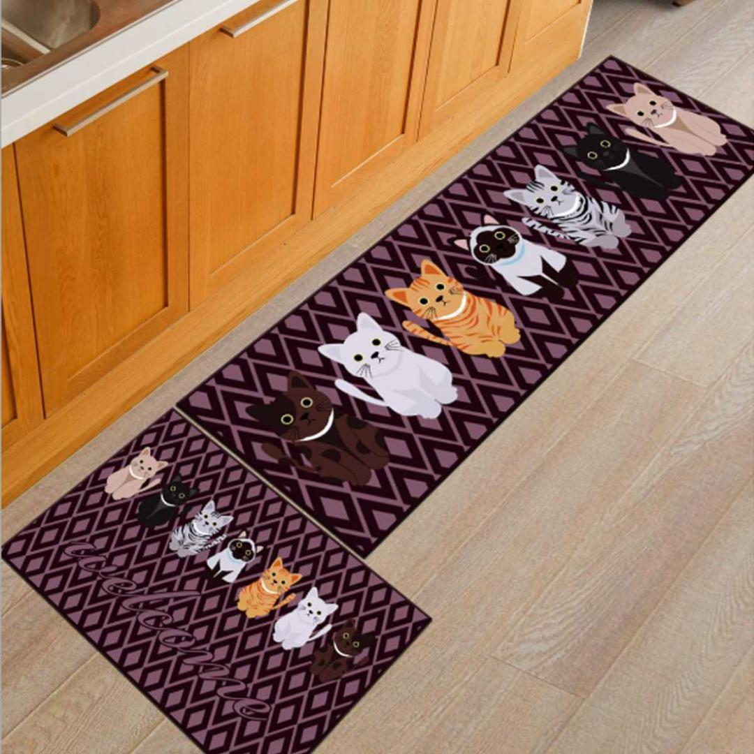 Kitchen Mat Anti Slip Modern Area Rugs Living Room Balcony Bathroom Carpet Set Doormat Bath Mat In The Hallway Black And White Outdoor Cushions Red