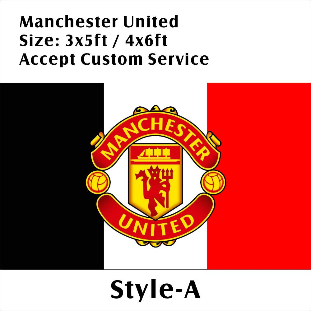 Inghilterra Manchester Unite FC 3 * 5ft / 4 * 6 piedi Custom Design Poliestere EPL Football Sport Team Flag Banner decorazioni di volo a fan