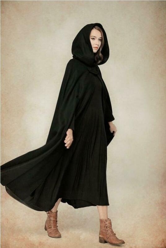 2019 Plus Size Automne Party de veste à capuche Capes femmes hiver mince manteau Veste Cape Poncho Cardigan