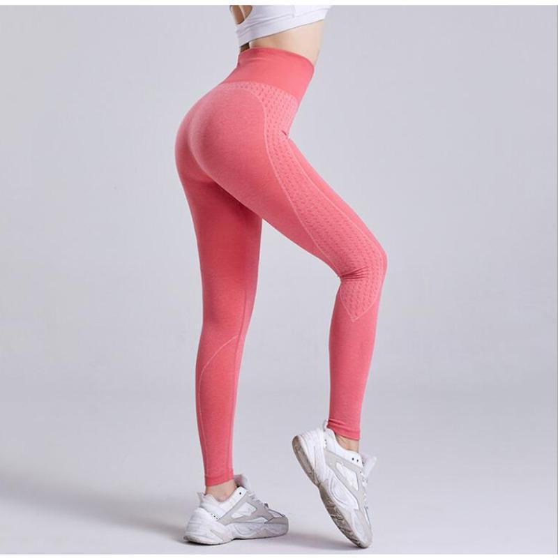 Yoga Outfits 2021 Gym Running Pants High Waist Hip Women's Quick Drying Training Thin Stretch