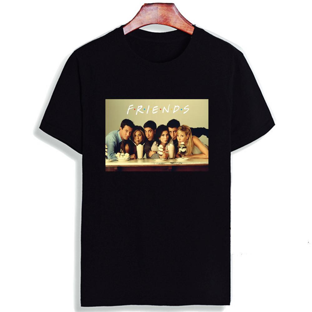 Nueva camiseta de algodón 100% Friends Tv Series Movie Art Print Camisetas de manga corta Camisetas Moda Casual Camiseta Y19072001