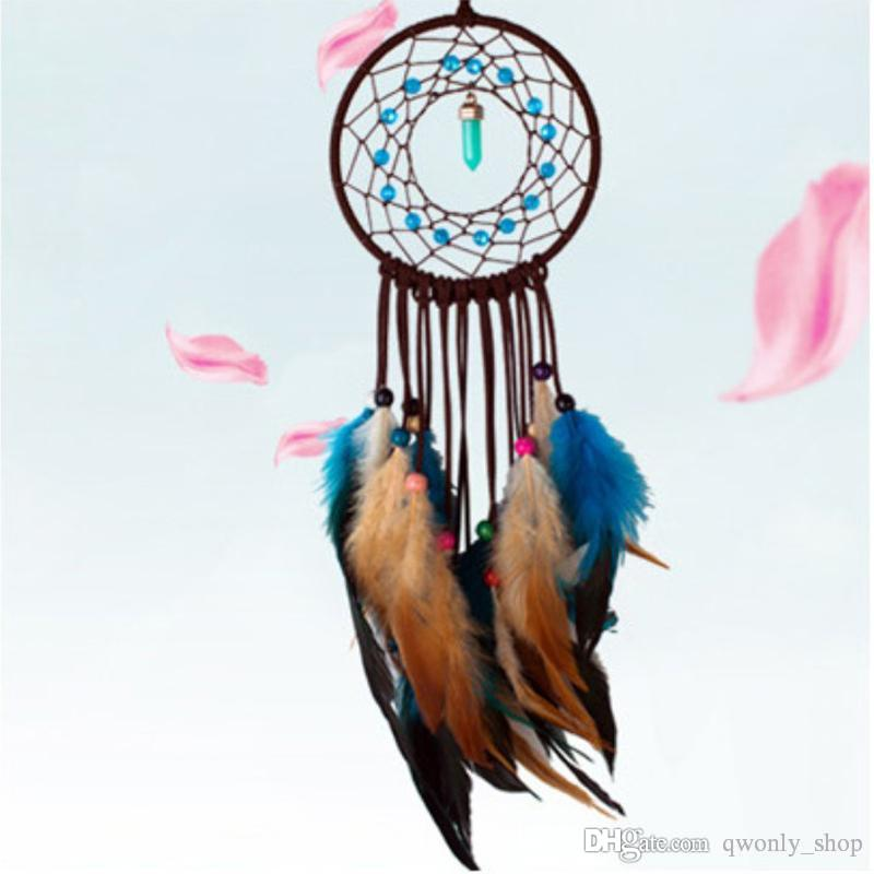 Vintage Enchanted Forest Dreamcatcher Wind Chimes Feather Pendant Dream Catcher Wall Decoration Ornament Gift 2 Styles