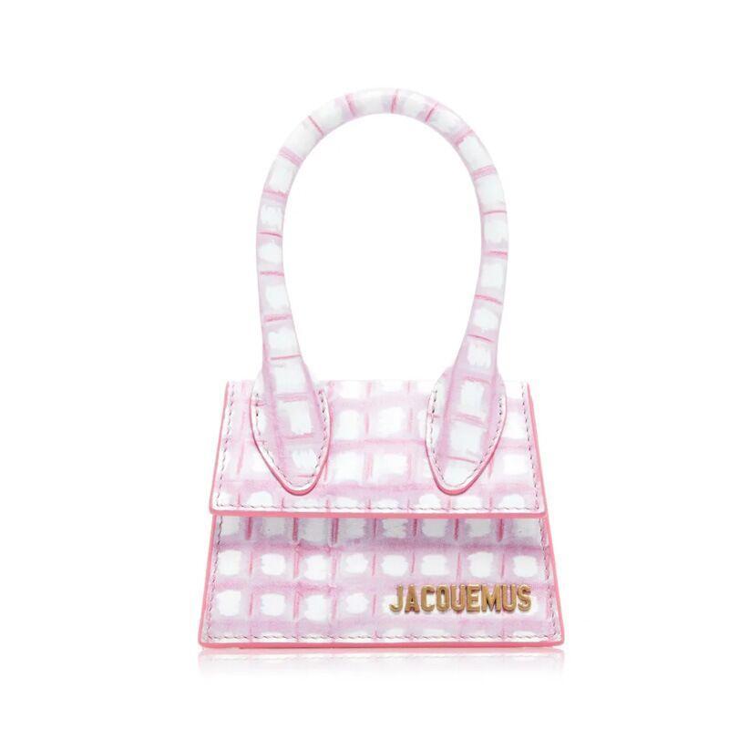 bourse crochet 2020 Nouveau Sac de cuir femmes de luxe Mini sac à main une épaule Le Chiquito rose à carreaux Sac en cuir en cuir étiquette de bagage