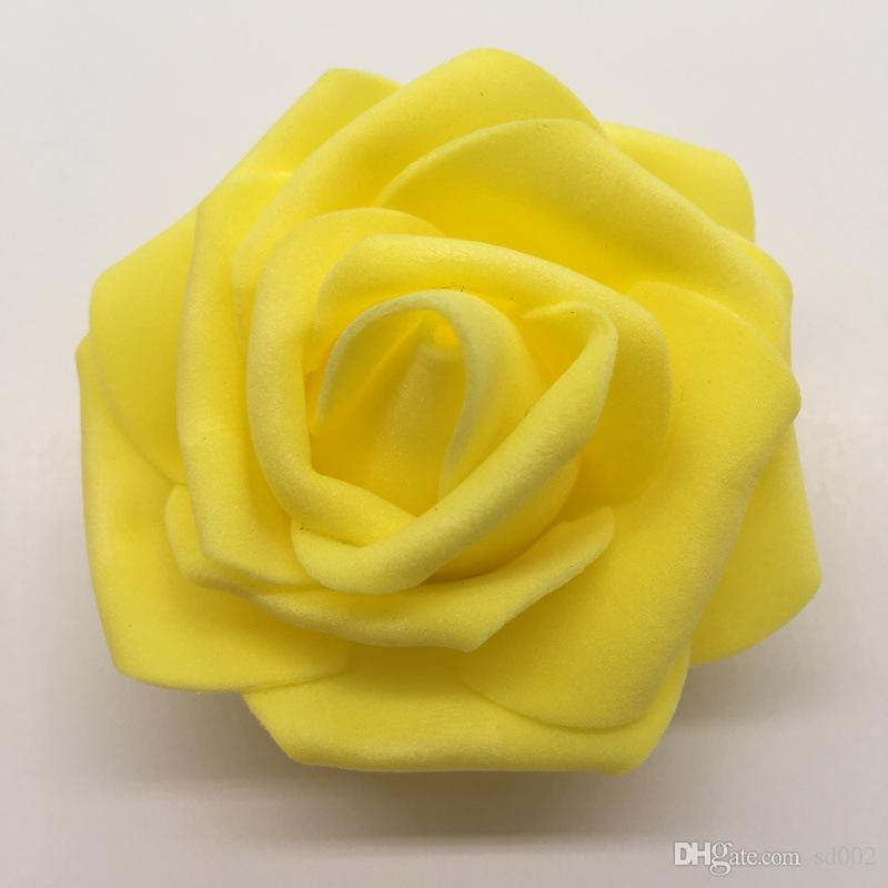 simulación rosa luces flor cabeza de la espuma flores artificiales bola de boda hechos a mano decoran suministros ventas calientes más color 0 22srC1