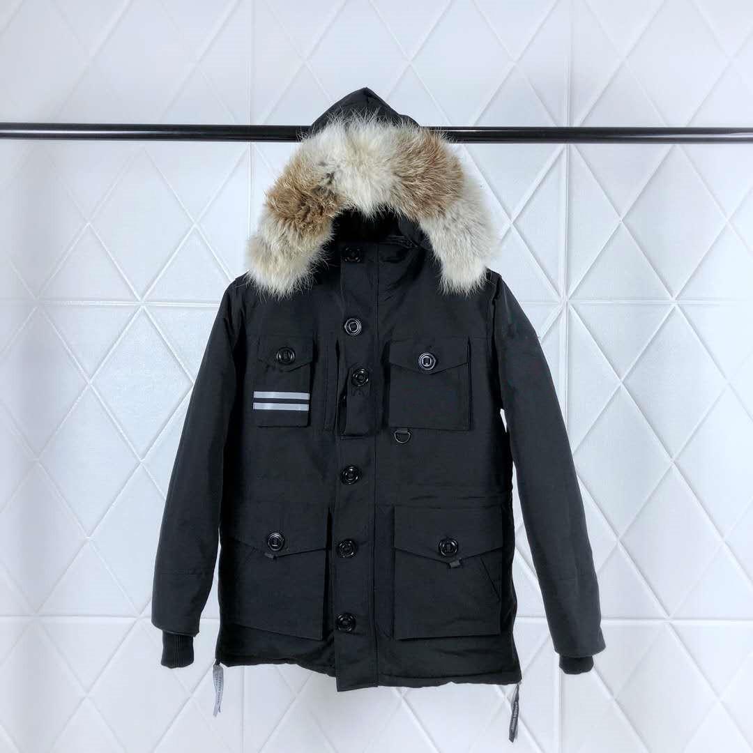 Kanada Üst Kalite 150. Yıl Coat Marka Tasarımcı Erkekler Down Parkas Kadınlar Kış Ceket Kırmızı Siyah Beyaz XS-2XL
