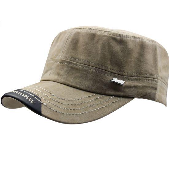 Hommes en coton délavé Flat Top Armée militaire Activités de plein air Runner Golf balle de tennis Escalade Golf Course Peaked Sun Hat Cap