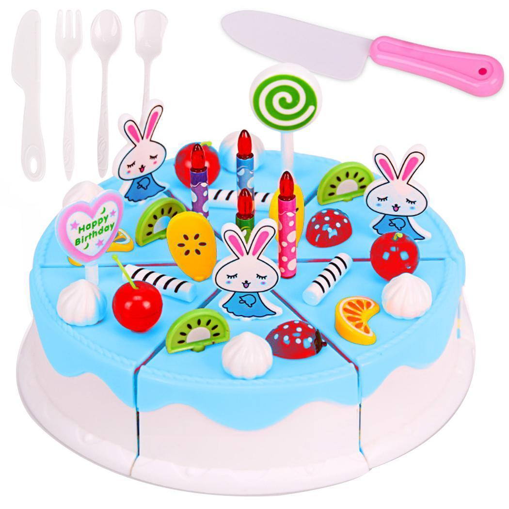 Astounding 2020 Children Role Birthday Pretend Play Toy Cake Unisex Dessert Funny Birthday Cards Online Elaedamsfinfo