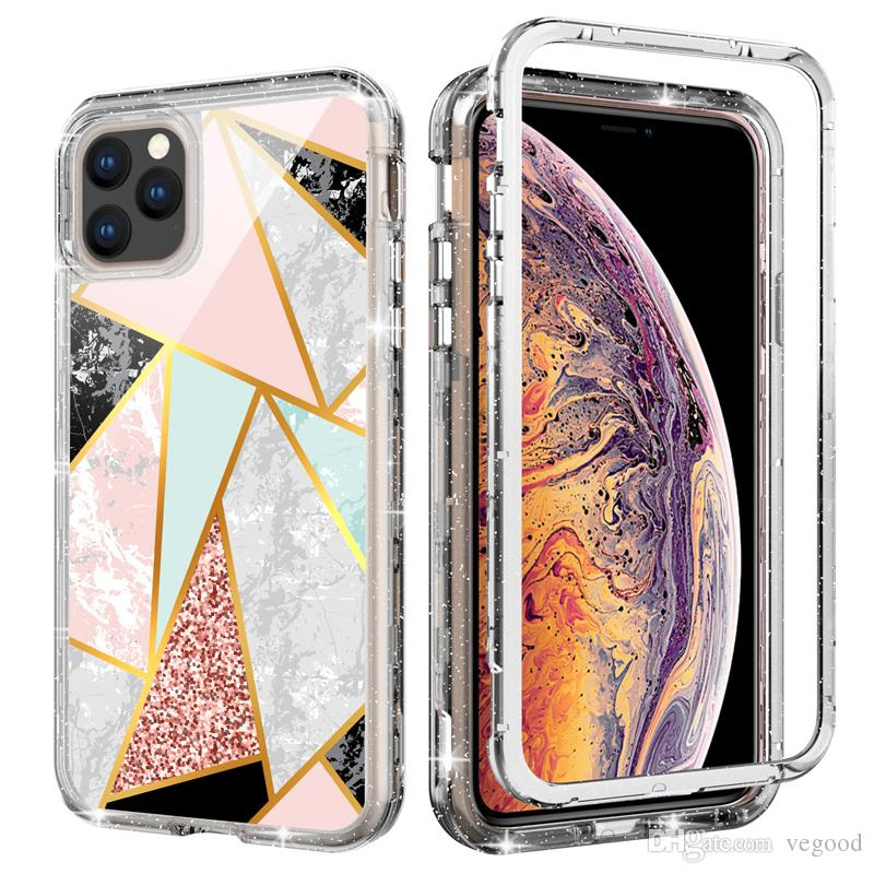 Per la copertina iPhone 11 PRO guscio lusso protezione dagli urti doppio strato antiurto dall'alto guscio protettivo di plastica dura e molle indietro TPU