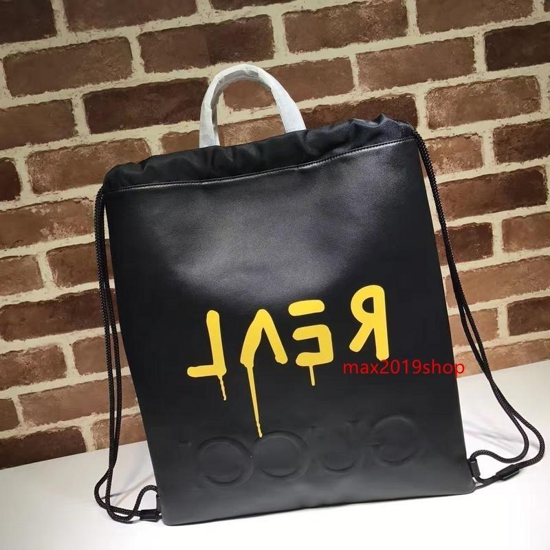 2020 Top Quality Brand design Letter Graffiti Shopping Tote Bag Real Cowhide Leather Woman 474210 XL Handbag