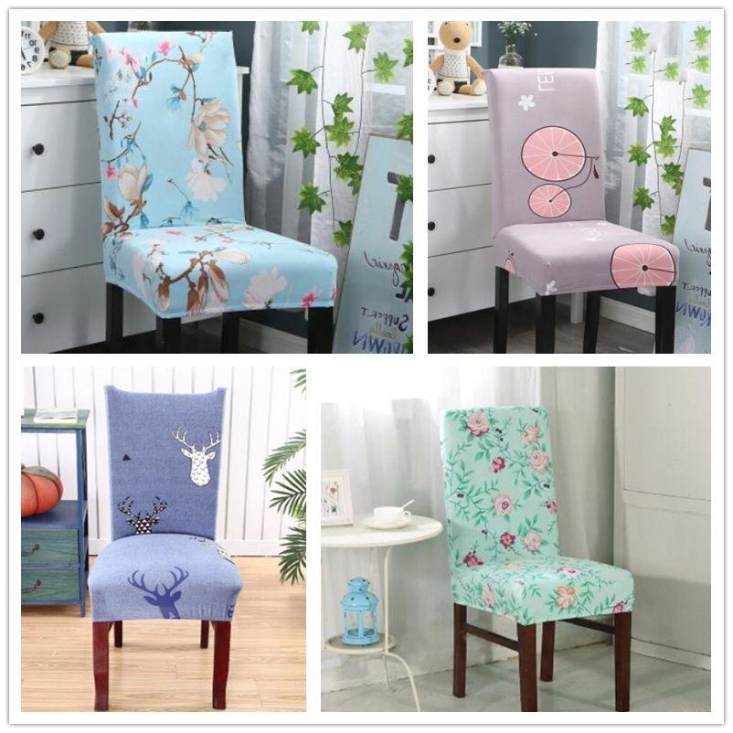 Главная крышка стула мода съемный контракт печатных спандекс эластичный чехол чехлы для стульев контракт свадебные стулья декор WY538Q