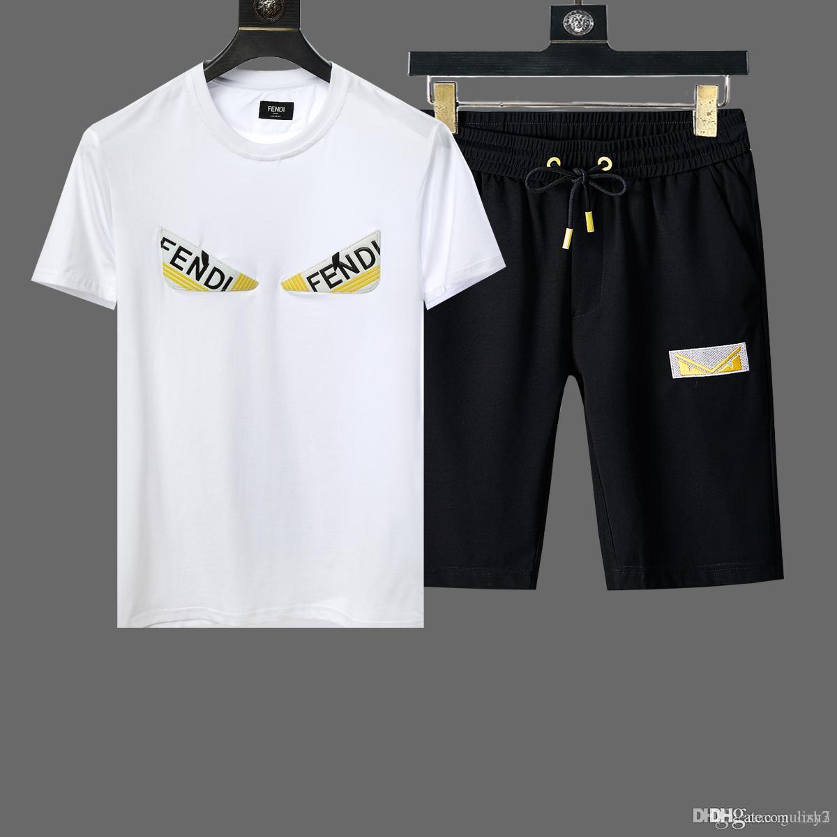 Printemps Designer de luxe bébé t-shirt pantalon deux pièces 3-7 ans costume enfants marque enfants 2pcs coton ensembles de vêtements