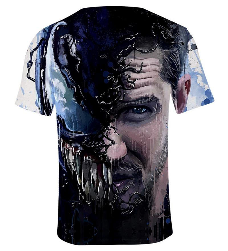 New Women Men Movie Venom Comic Print Casual 3D T-Shirt Short Sleeve Tops Tee