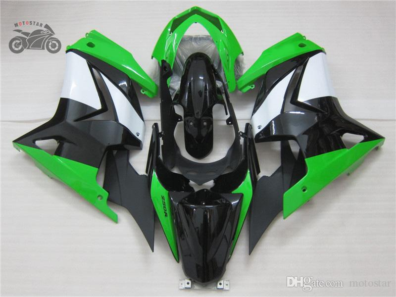 川崎忍者250r 2008 2009年2009年2011年2011年2012年2012年2012年250R EX250グリーンブラックボディキット