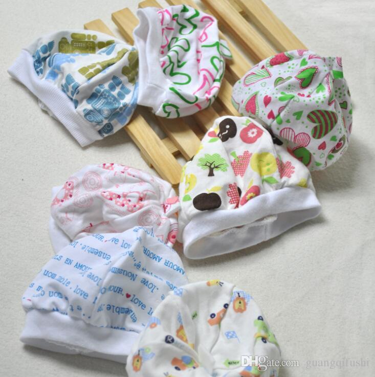 Moda varios colores de impresión de algodón recién nacido gorras de bebé tapa del bebé sombreros del bebé varios colores sombrero al por mayor
