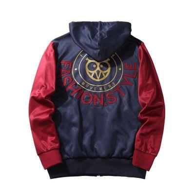 Hot Teach Men's Jacket For Spring Fall Vintage Patchwork Striped Sport Coats Hoodies Lover Windbreaker Jackets