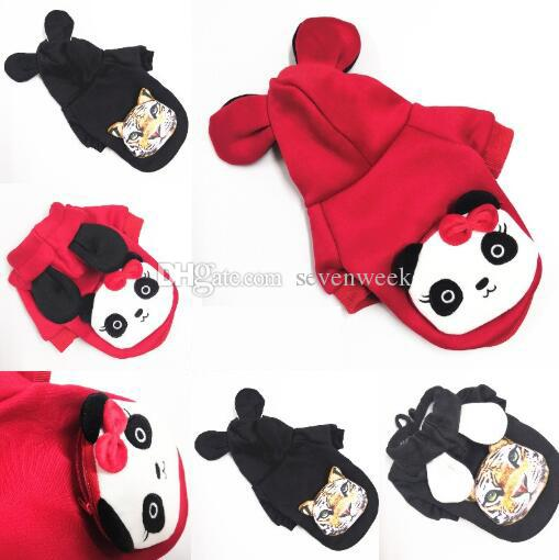 Trend Leisure Cute Dog Clothing With Snack Bag Teddy Bulldog Pets Clothes Panda Tiger Pattern Dogs Cats Sweater Dog Apparel Pet Supplies