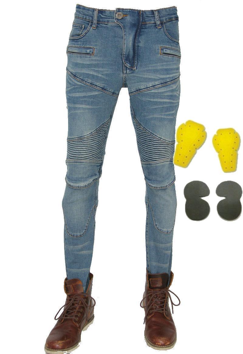 ventas calientes de la motocicleta pantalones de montar PK-718 ciclistas moto ocasional delgado pantalones vaqueros de protección caballero diaria ciclismo pantalones lomocotive ocio