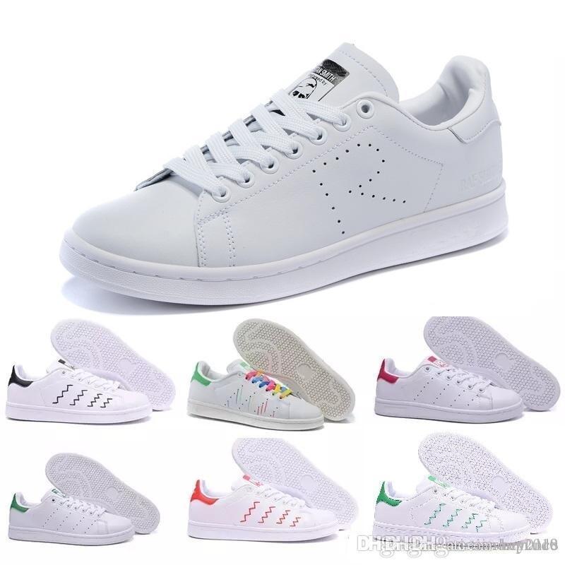 Compre 2019 Adidas Clásicos Nuevos Zapatos Stan De Moda Zapatillas Smith  Casual De Cuero Hombres Mujeres Deporte Zapatillas Zapatillas Deportivas ...