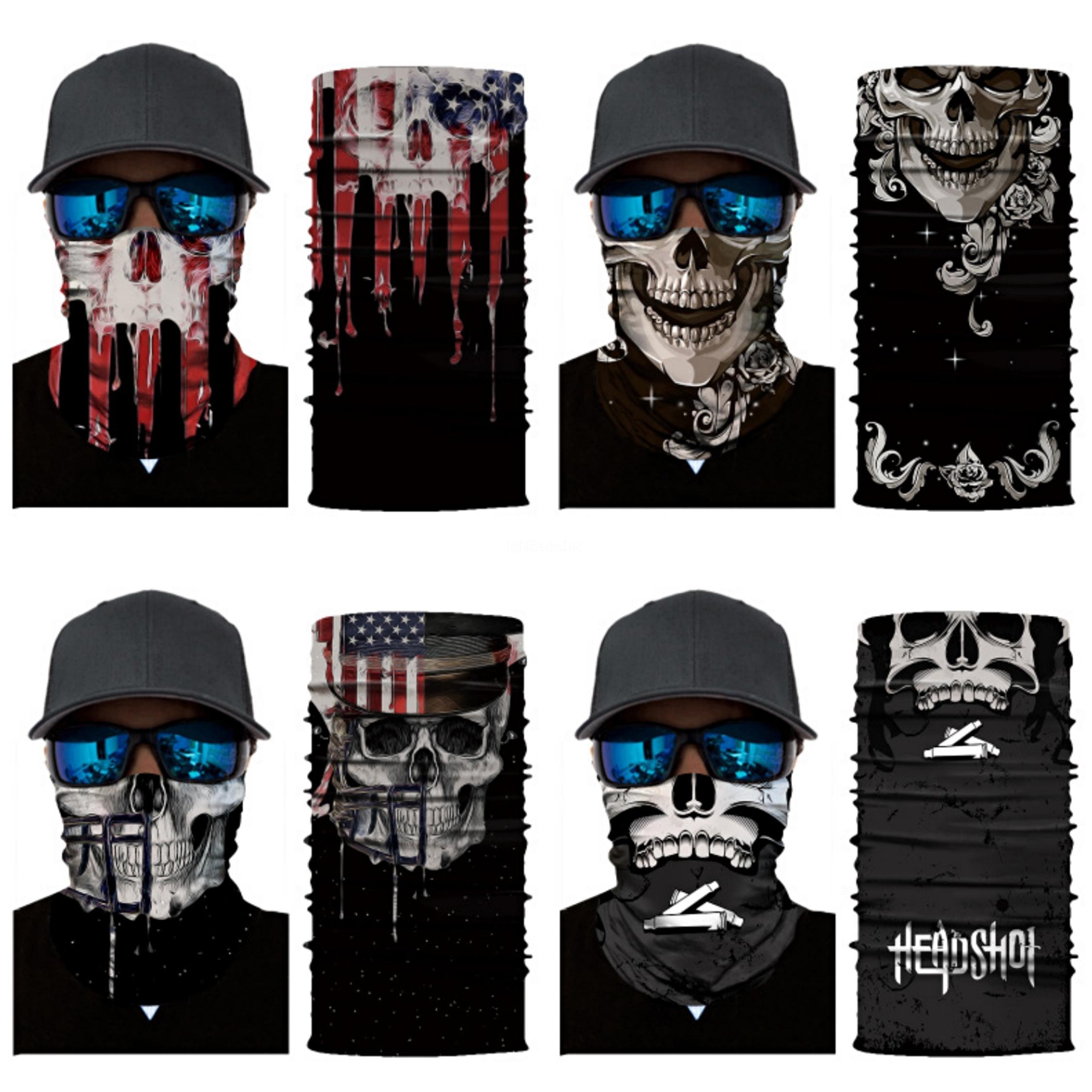 Sport e tempo libero senza saldatura Camo bandana multifunzionale Headwear fascia magica Skull Scarf Buff Pesca Mask Visiera S # 512 # 137