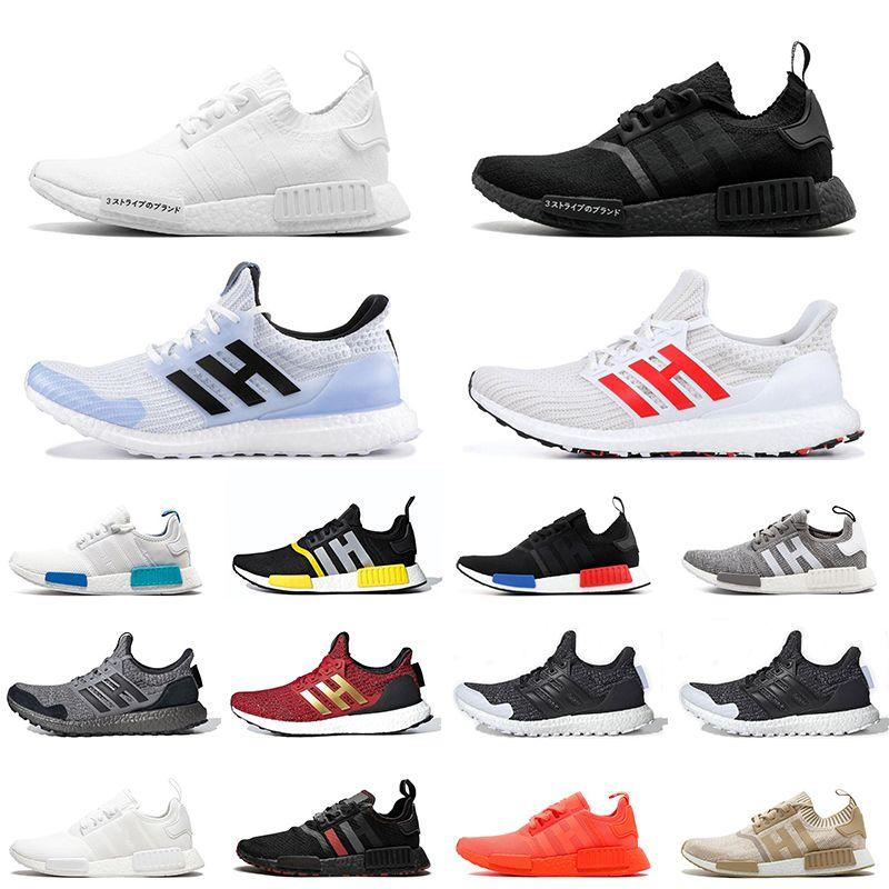 2020 Nmd R1 Japan White Black Men Women Running Shoes Game Of