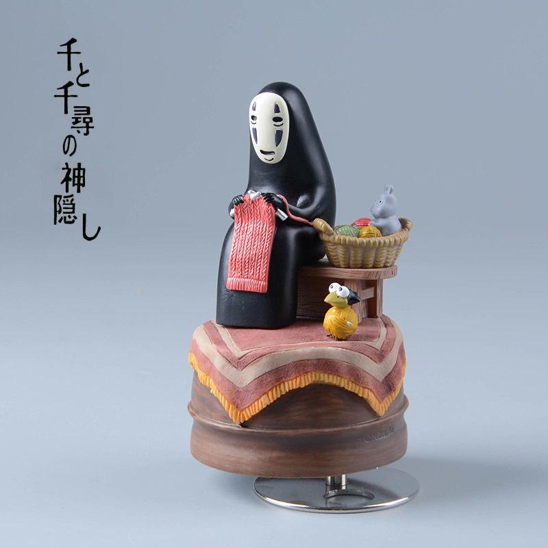 스튜디오 Ghilbli Kaonashi 액션 피규어 미야자키 하야리 치히로 째 어딘지 뮤직 박스 얼굴 없음 수지 인형 입상 인형 애니메이션 그림 Y19051804