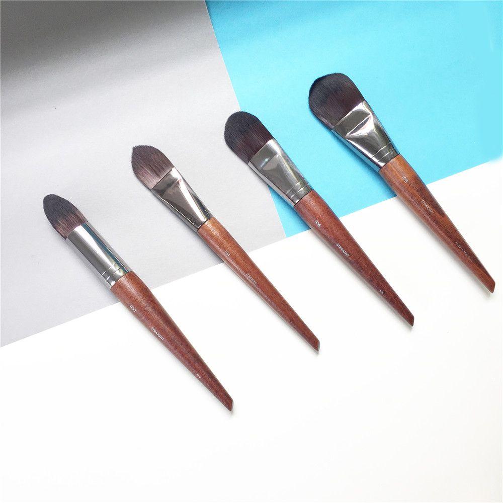 MUF Pincel de Base Grande-108 Médio-106 Pequenas-104 de Precisão-100 para Base Líquida Creme-Beleza maquiagem Blending Tools