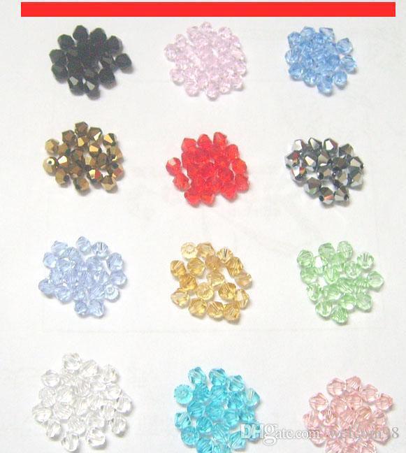 1000 шт. / Лот Mix Colors Граненые Кристалл Бикон Стеклянные Стекло Свободные бусины для DIY Craft Мода Подарок Ювелирных Изделий CS01 *