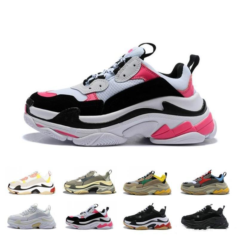Новый стиль Paris 17FW Triple-S Sneaker Triple S Dad дизайнерская обувь для мужчин и женщин черный спортивный теннис кроссовки 36-45