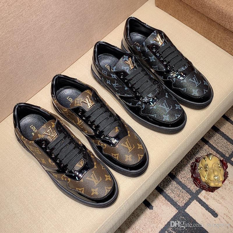2020v роскошный дизайн мужская мода печатные резиновые нижние кроссовки все-Матч дышащая мужская повседневная обувь мужская банкетная обувь размер: 38-45