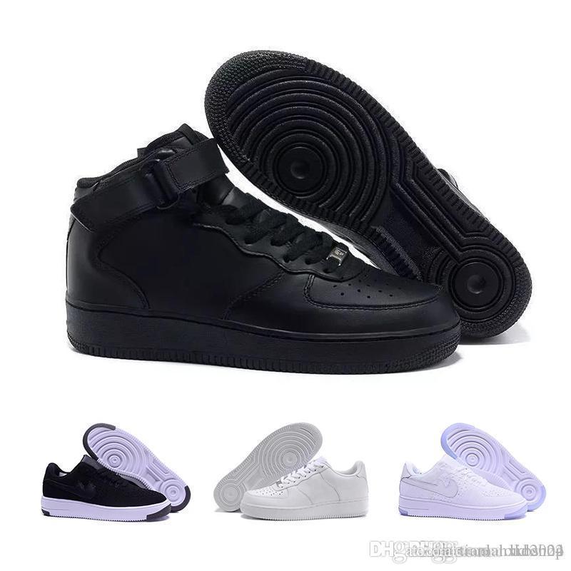 Großhandel Nike Air Force 1 Flyknit Utility Marken Rabatt Für Herren Und Damen Flyline Laufschuhe, Skateboard Schuhe 1 Paar High Low Cut Schwarz Weiß