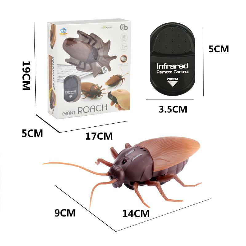 Juguete eléctrico de Halloween regalo de infrarrojos RC remoto Kit de animales de juguete de control para adultos de los niños inteligentes Cucaracha araña para Halloween Juguete Y200317