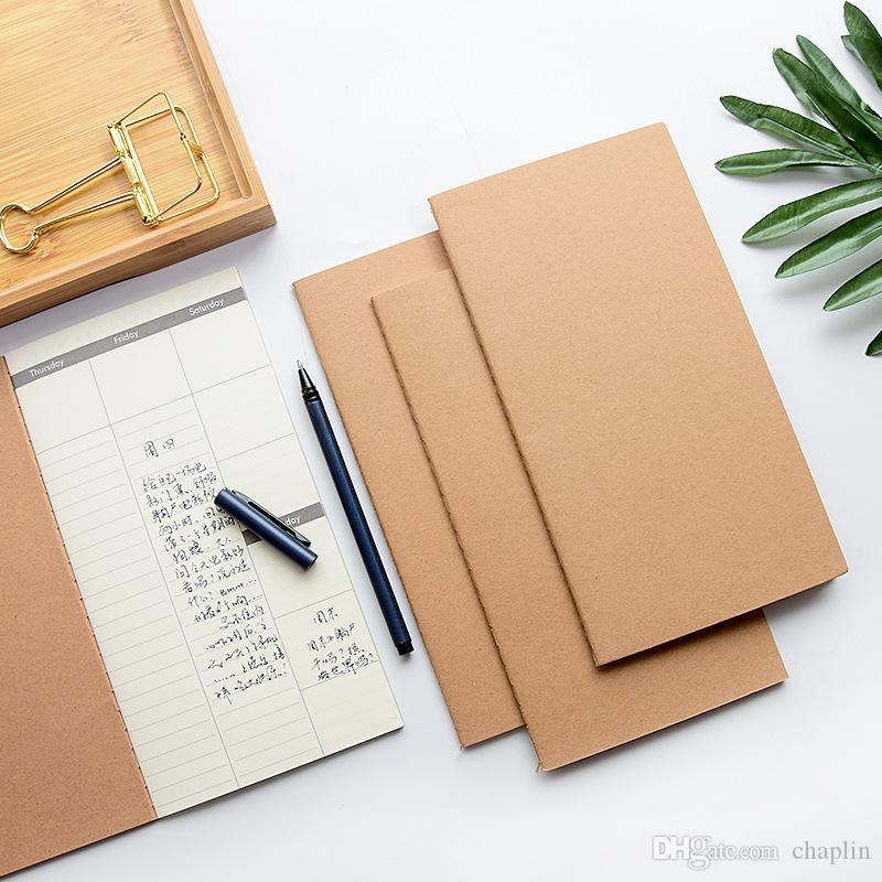 110x210MM Notebooks Cowhide Paper Notebook Blank Notepad Vintage Daily Memos For Drawching Gravely Hand-drawing 32 Sheets 64 Pages