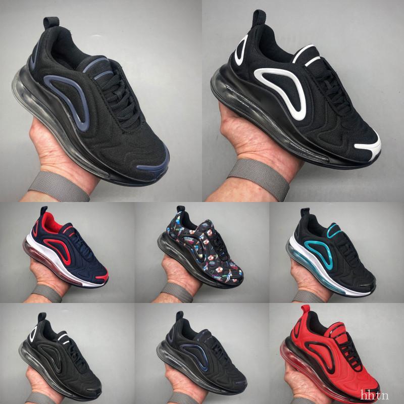 Nike Air Max 720 venta caliente juvenil que se ejecuta zapatillas de deporte de niño corriendo fuera de la puerta tamaño de los zapatos deportivos 28-35 amortiguación cojín 、