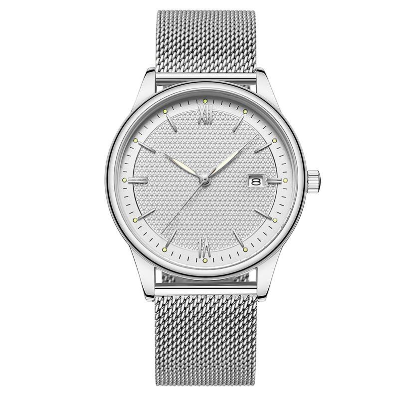acier inoxydable populaires hommes d'affaires avec un couple montre étanche calendrier montre à quartz