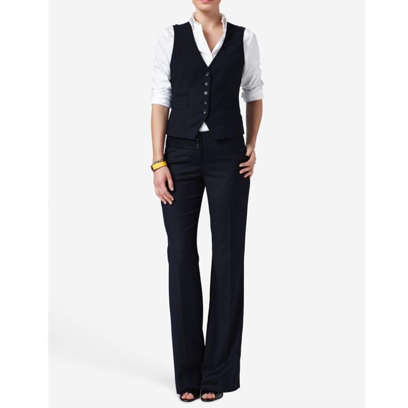 desgaste formal casual e mulheres terninhos Hot Sale Mulheres Ladies terno formal escritório de negócio Vest + Calças Novas smoking chegada