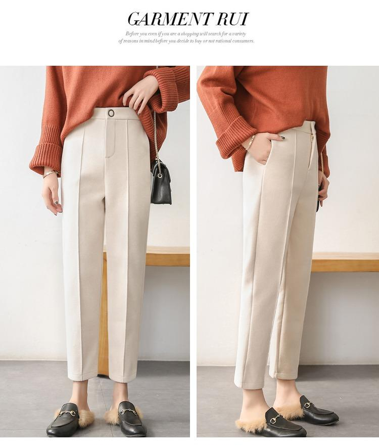 JinYiLai Branco Alto cintura Trunks Feminino Nove Pontos