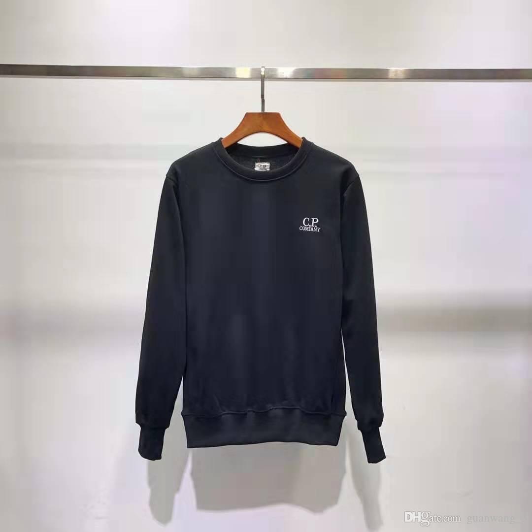 Moda masculina diseñador de la marca nueva cuello redondo con capucha bordado lavada suelta sólido de color simple bf suéter varón viento flojo