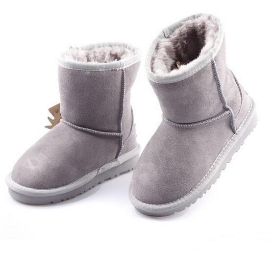 Marca HOt Scarpe per bambini Stivali da ragazza Inverno Calda caviglia Bambino Stivali da ragazzo Scarpe Scarpe da neve per bambini Scarpa calda in peluche per bambini 5821 XMAS