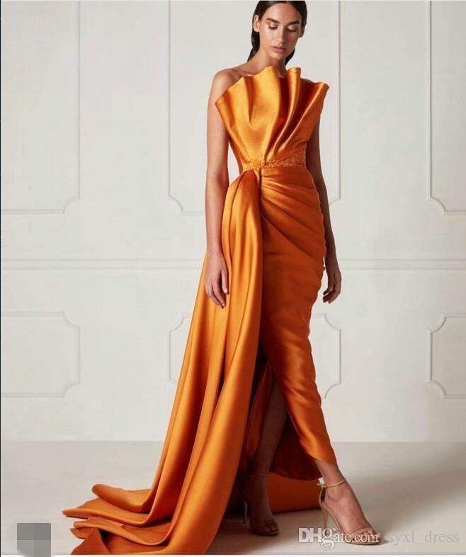 2020 Современные формальные вечерние платья выпускного вечера 2019 мантия де Марие Особые случаи одевает коктейль вечеринка