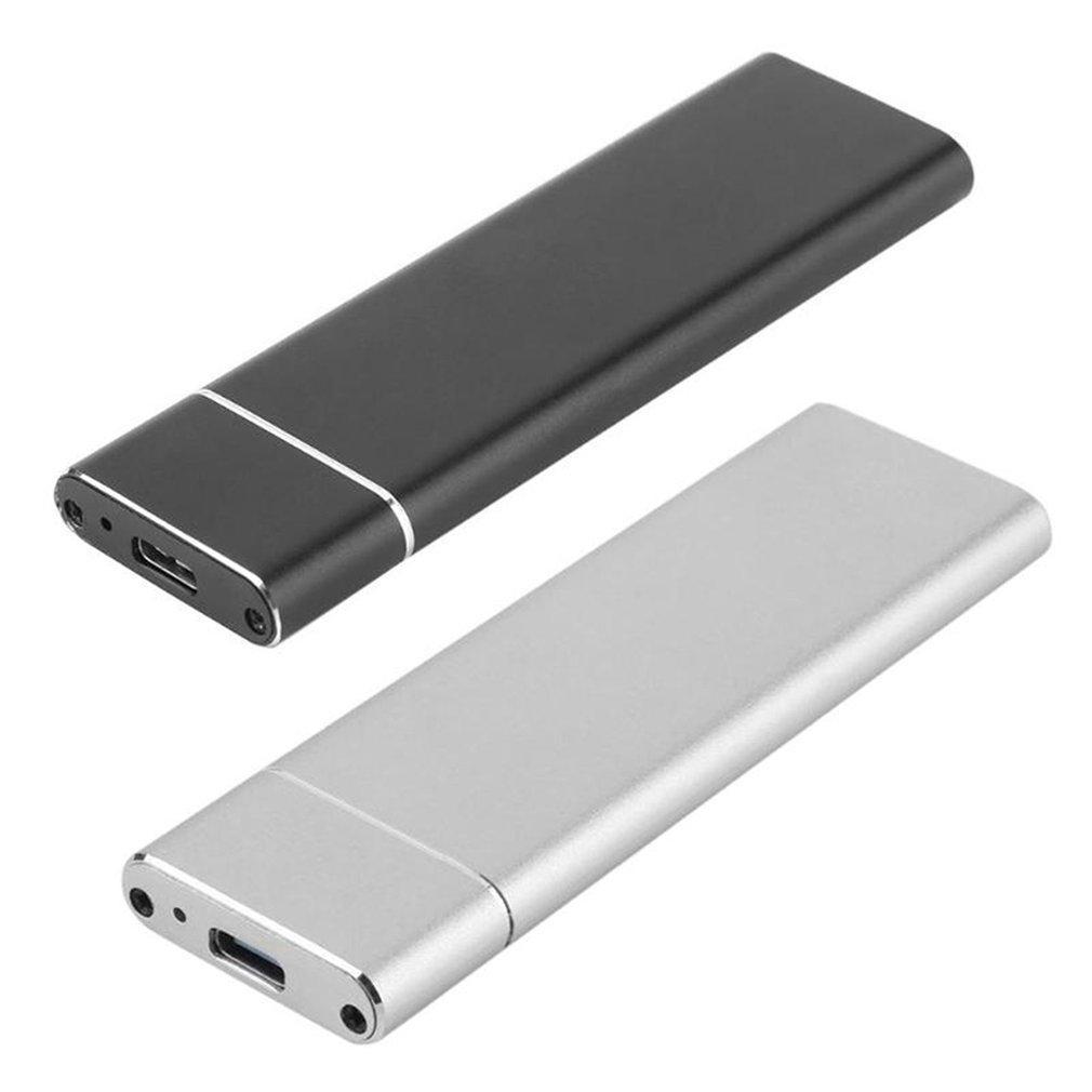 USB 3.1 C Tipi için M.2 NGFF Kutusu M.2 SSD İÇİN Tip C Katı Hal Sürücü Vaka Sabit Disk Kutusu Disk Ek