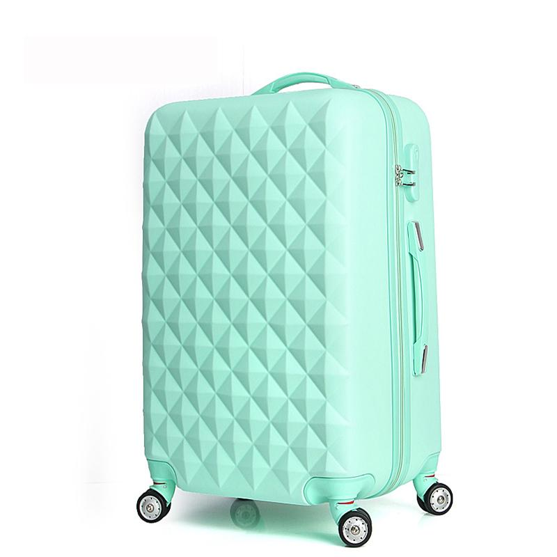 """Designer-20"""" High quality Diamond lines Trolley suitcase /travell case luggage/Pull Rod trunk rolling spinner wheels/ ABS+PC boarding bag"""
