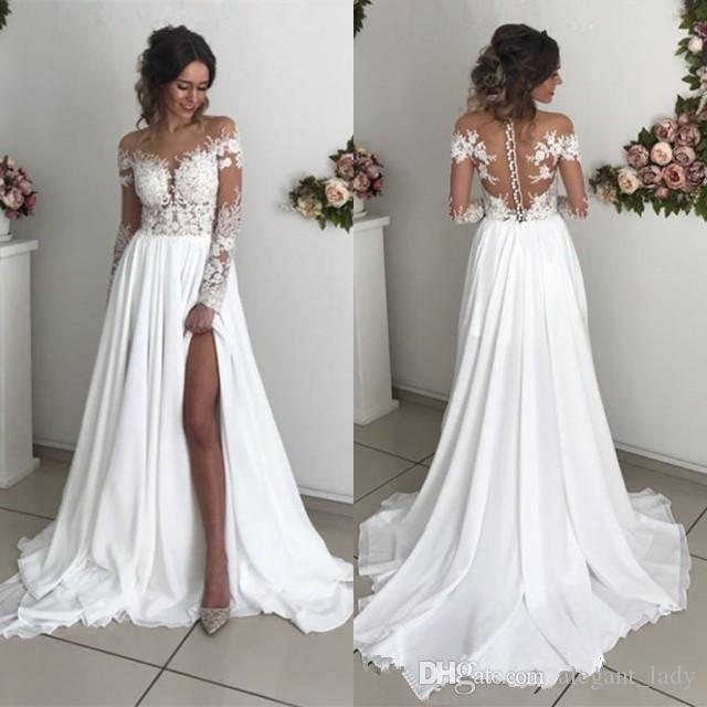Acheter 2019 Dentelle Robes De Mariée En